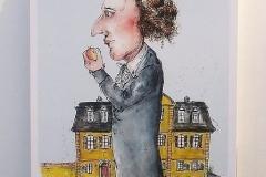 Kunstpostkarte Friedrich Schiller